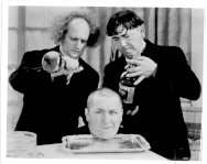 THE THREE STOOGES - 376K - head on a platter